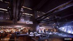 Can I start over so I can do this for a living?!  ArtStation - Mass Effect 3 - Hanger, Alex Figini