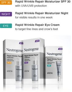 Neutrogena's Rapid Wrinkle Repair. simply unbelievable results.....at only $20 each?!?! perfect.