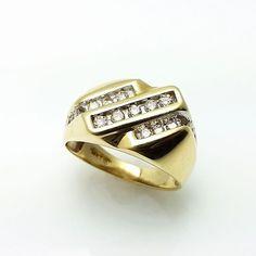 0.50CT Men's Diamond Ring 14K Solid Gold * 14K solid gold #DiamondRing #ring
