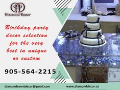 Make your and your family member Birthday party memorable with Diamond Decor. DD provides best event decoration services in GTA, Mississauga, Brampton. Call Today and book for your next event Diamond Decorations, Birthday Party Decorations, Gta, Event Decor, Ontario, How To Memorize Things, Canada, Make It Yourself, Book