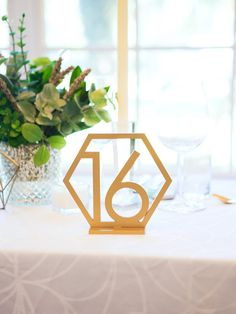 Geometric Table Numbers for Wedding Wooden Laser by ZCreateDesign