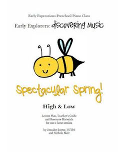 High/Low lesson plan for preschool music class!
