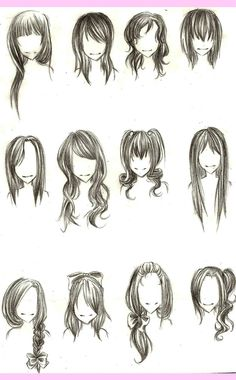 ::Girl hairstyles:: by *JustBeFantastic on deviantART
