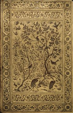 Leather Binding from a Safavid Dynasty Manuscript - Iranian. Date1500/1550. Detroit Institute of Arts.