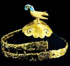 Mongolian antique - Golden eagle crown