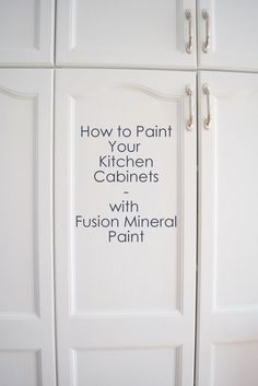 How to paint your kitchen cabinets without sanding or a top coat!