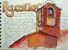 Classes at Art & Soul Portland 2017, watercolor travel journal, painting in France, watercolor sketchbook
