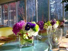 #glass #cubes for #centerpieces