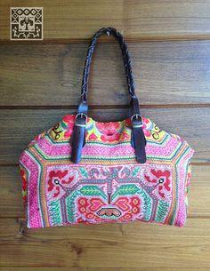 Vintage Hmong baby carrier tote bag ethnic handmade by LavishLanna, $99.00