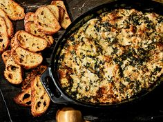 Dip Recipes 201184308341721797 - This Warm Spinach-Artichoke Dip recipe gets its flavor from Gouda, scallions, and cayenne pepper. Get the recipe from Food & Wine. Appetizer Dips, Appetizer Recipes, Dinner Recipes, Dip Recipes, Cooking Recipes, Vegetarian Recipes, Potato Recipes, Vegetable Recipes, Bon Appetit