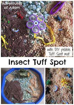 Insect Tuff Spot Insect Tuff Spot with DIY Tuff Spot Mat | http://adventuresofadam.co.uk/insect-tuff-spot/