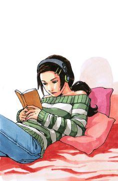 Música y lectura: dos placeres para disfrutar a diario (ilustración de W.L Gollnick)