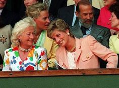 Princess Diana with her mother Frances Shand Kydd, formerly Frances Spencer, Viscountess Althorp