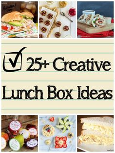 Today I have over 25 creative ideas for filling that lunch box. From sandwiches to bento boxes to homemade snacks and treats, I've got you covered with this list of goodies! #bunsinmyoven #backtoschoollunch #backtoschooltips