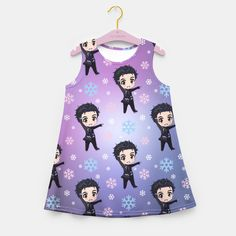 Yuri!! On Ice Chibi Yuri Pattern Girl's Summer Dress