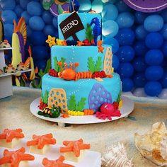 Fundo do Mar By @perylampofestas #bolo #instacake #instaparty #party #bday #festafundodomar #entrenafesta