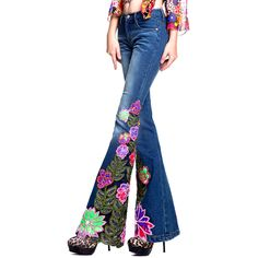Vintage 1960s Embroidered Bell Bottom Jeans http ...
