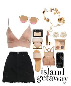 """Island getaway"" by nannalarsen1308 ❤ liked on Polyvore featuring Hinge, Urban Originals, Stila, NARS Cosmetics and Twigs & Honey"