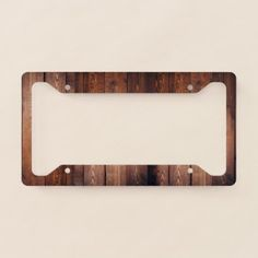 #country - #Decorative Wooden Planks Pattern License Plate Frame