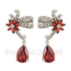 free ship Zircon earrings popular Korean version of the exaggerated retro Austrian crystal earrings $11.80