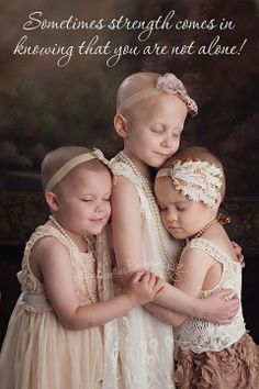 Rylie, 3, just beat stage 5 kidney cancer. Rheann, 6, has brain cancer. Ainsley, 4, is fighting a form of leukemia. They quickly bonded on set.