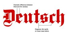 This is an example of blackletter or old english that is based on gothic and medieval calligraphy. Many newspapers like the Los Angeles Times, the New York Times and the San Francisco Chronicle use this typeface.