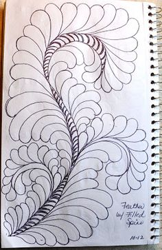 10-12 May Your Bobbin Always Be Full: Sketch Book....Feathers w/Filled Spines