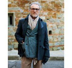 ジャケットとコートの色合い ストール