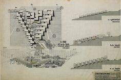 Ar-tur Arkent, concept project. 1970  A. Çinici & B. Çinici & S. Kılıç Mimarlar