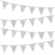 Vintage Floral Fabric Bunting