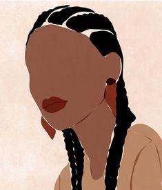 Black Girl Art, Black Women Art, Black Art, Art Girl, People Illustration, Illustration Art, Aesthetic Art, Aesthetic Black, Afro Art