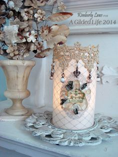 Candle cover created by Kimberly Laws for A Gilded Life.