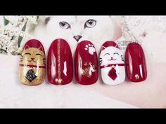 【Watch Nail Stone patterns in New Kawaii Nail Art, Cat Nail Art, Animal Nail Art, Cat Nail Designs, Nail Art Designs Videos, Cute Nail Art Designs, Bling Acrylic Nails, Stiletto Nail Art, Pastel Nails