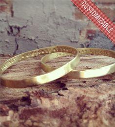 Secret Message Custom Bangle Bracelet | GramercyEight