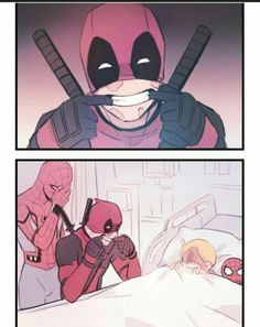 deadpool and spiderman funny hilarious Avengers Humor, Funny Marvel Memes, Marvel Jokes, Funny Memes, Tf2 Memes, Deadpool X Spiderman, Deadpool Fan Art, Marvel Art, Marvel Dc Comics