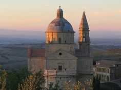 "San Biago in Montepulciano, Italy - Montepulciano is well worth a visit if you're going through Tuscany regardless (""classic"" example of an Italian hill town, with some fantastic restaurants tucked in its winding streets. And a great Market as well!). This is San Biago as seen from Montorio - a highly recommended B&B just outside of the city - close enough to walk to town (self catering rooms, as well)"