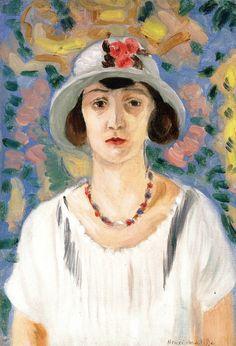 The Grey Hat / Henri Matisse - 1922