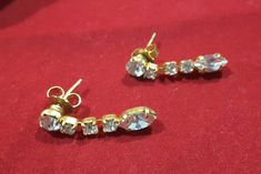 Your place to buy and sell all things handmade Diamond Earrings, Drop Earrings, Treasure Chest, Special Occasion, Campaign, Sparkle, Content, Medium, Gold