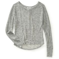 Long Sleeve Loose-Knit Dolman Crew Top ($14) ❤ liked on Polyvore