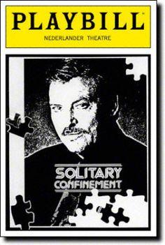 Solitary Confinement. Nederlander Theatre. Nov 1992.