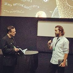 Interview before the screening of my #animated film Illusion at the #animateka film #festival.