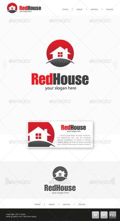 Red House  03 Logo Design Template Vector #logotype Download it here:  http://graphicriver.net/item/red-house-logo-03/7685840?s_rank=243?ref=nesto