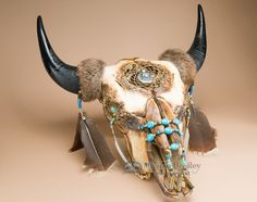 Native American Dreamcatcher Buffalo Skull (ps86) - Mission Del Rey Southwest