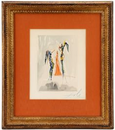 "Dali ""Heaven Canto 31"", Signed in Blue, 53/150 : Lot 948. Hammer Price- $600"