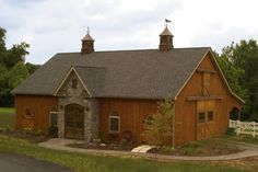 Check out this elegant 36'W x 60'L x 10' six stall horse barn in Quarryville, PA. B&D Builders www.custombarnbuilding.com