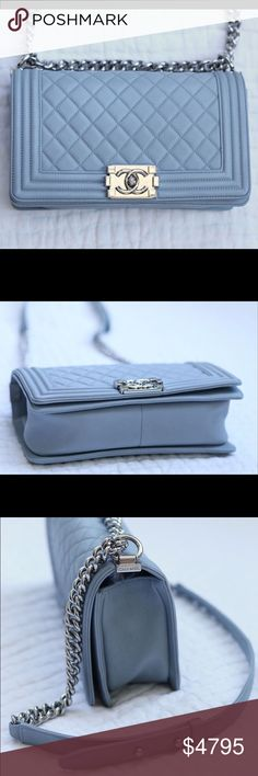 """Chanel boy old medium caviar with SHW Item details: Grey caviar leather with shiny silver hardware Condition: Normal sign of wear, the corners and edges have no rubbing.  Measurements: 10"""" (L), 6"""" (H), 3""""(D), 20"""" (Drop) Comes With: Dust bag and box. For additional photos ✉️ PetiteLG(at)gmail(dot)com CHANEL Bags Shoulder Bags"""