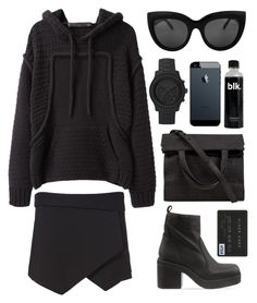 """""""ALL BLACK EVERYTHING"""" by mimiih ❤ liked on Polyvore featuring moda, Zara, Alexander Wang, Jeffrey Campbell, Proenza Schouler, women's clothing, women, female, woman e misses"""