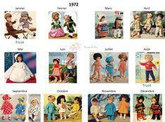 Modes et Travaux - Patrons poupée 1972