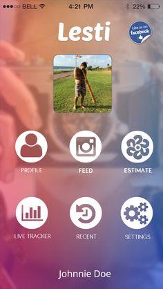 Mobile App - Lesti - Social media like estimator
