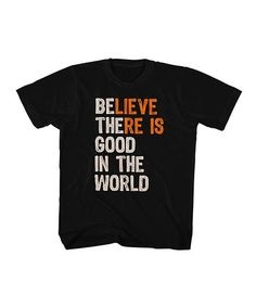 This Black 'Be The Good In The World' Tee - Kids & Tween is perfect! #zulilyfinds